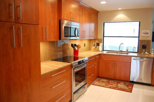modern countertop cabinets